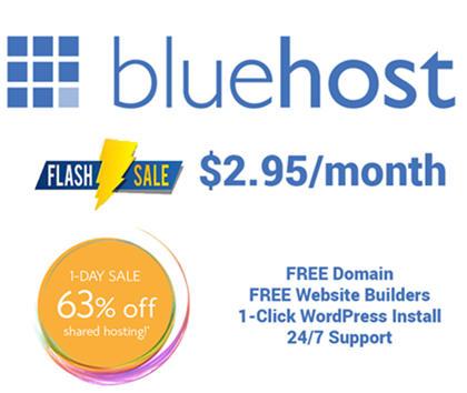 bluehost flash sale